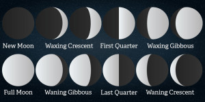 This image shows the different phases of the moon. Source: theplanets.org